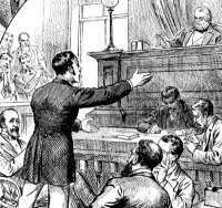 courtroom engraving