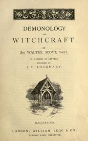 Scott Letters on Demonology and Wtichcraft